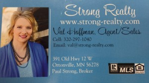 Strong Realty Val Hoffman Business Card