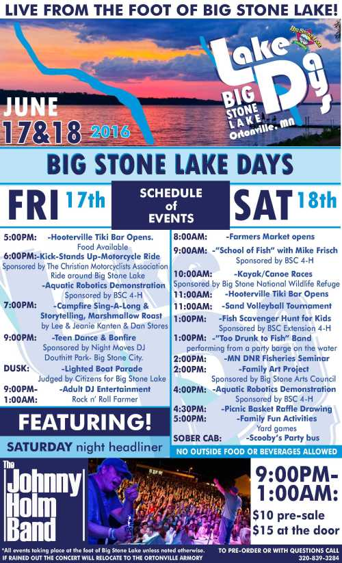Lake Days Flyer 2