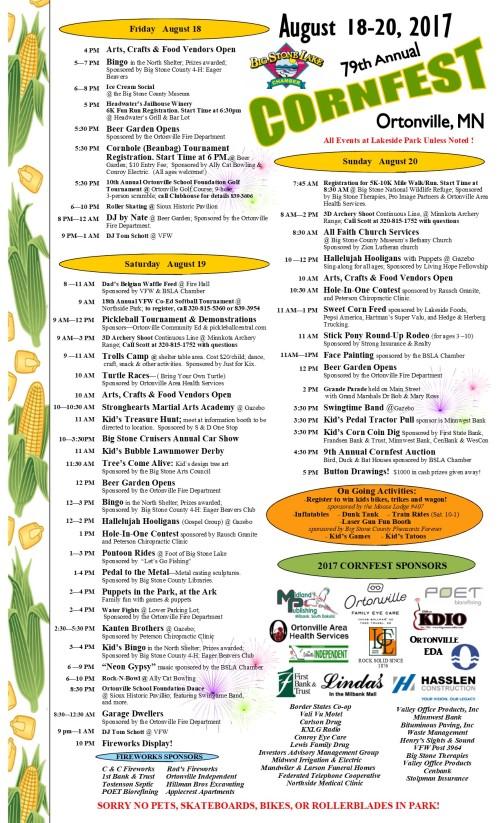 2017 Cornfest Schedule - Final Final Copy