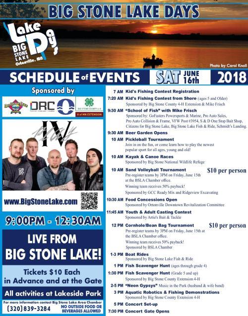 2018 Lake Days Flyer - Ort Ind