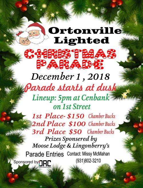 christmas parade poster 2018